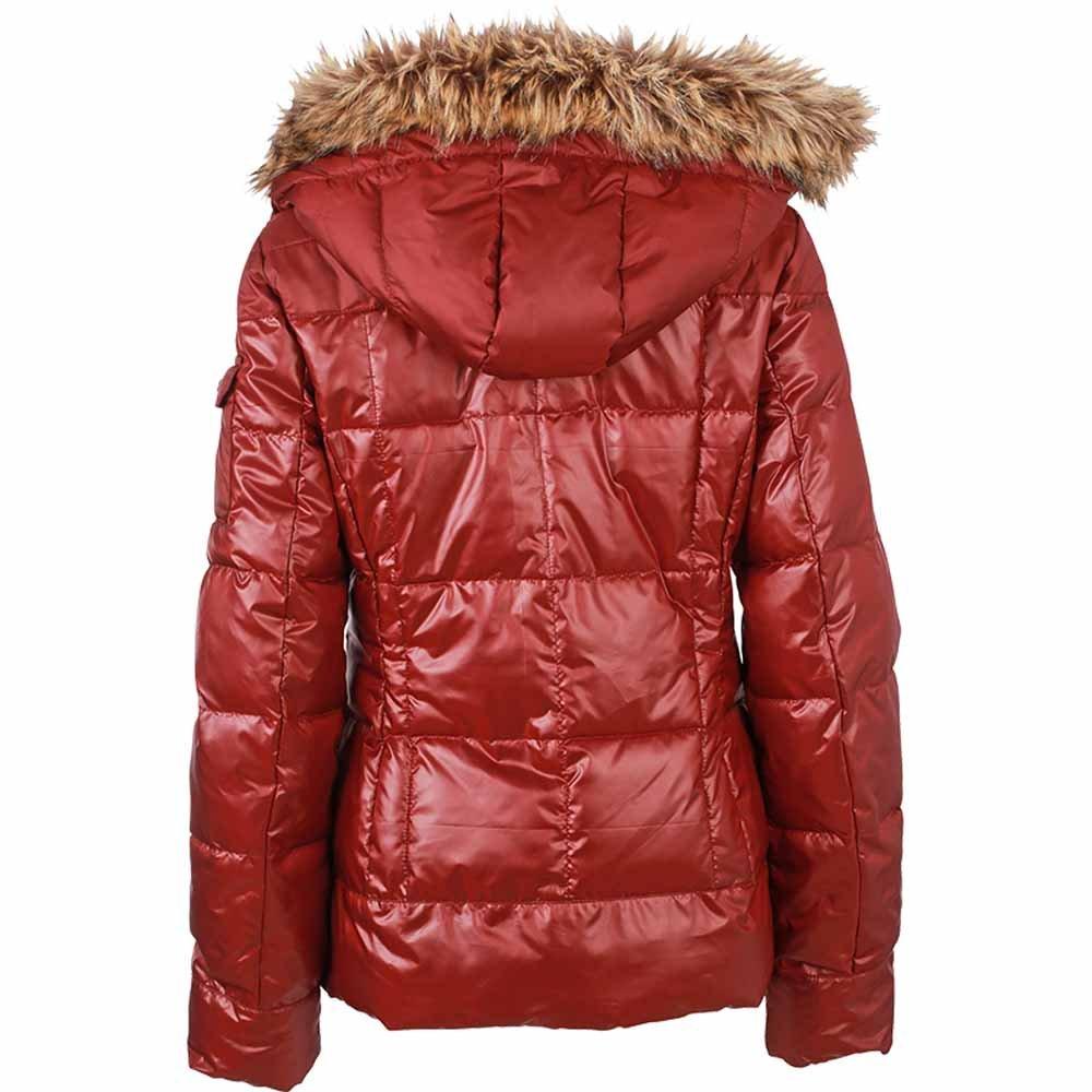 James /& Nicholson Womens Padded Winter Down Jacket Coat Fur Hood