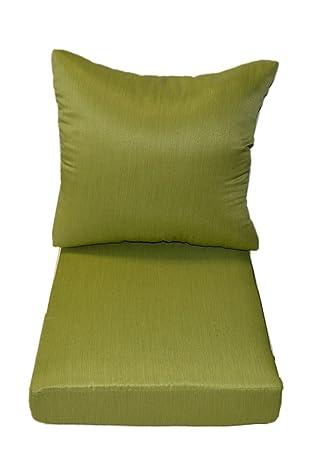 Tejido de sarga Mojo Kiwi verde tela - cojines para Patio al aire ...