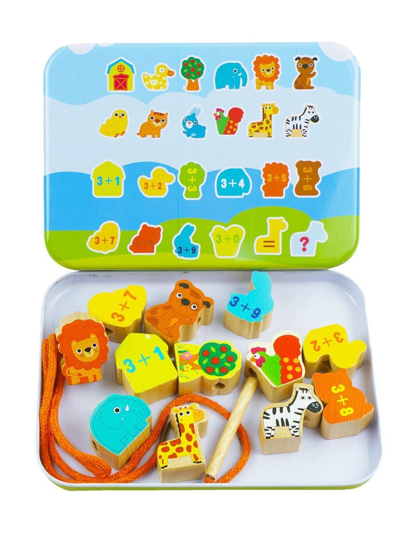 ATezi EIN Tier perlen Labyrinth - Spiel der vorschulischen Kleinkind Spielzeug für 1 2 3 - jährigen Jungen mädchen achterbahn um Kreis Perle der frühen entwicklungsphase Spielzeug