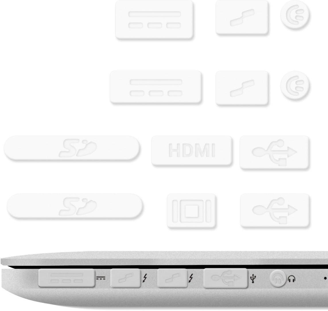 """kwmobile 12x Tapón Anti-Polvo Compatible con Apple MacBook Pro 13"""" 15"""" Retina/Air 11"""" 13""""(a Partir de Mediados de 2011 - Mediados de 2016) - Tapas Protectoras Anti-Suciedad"""