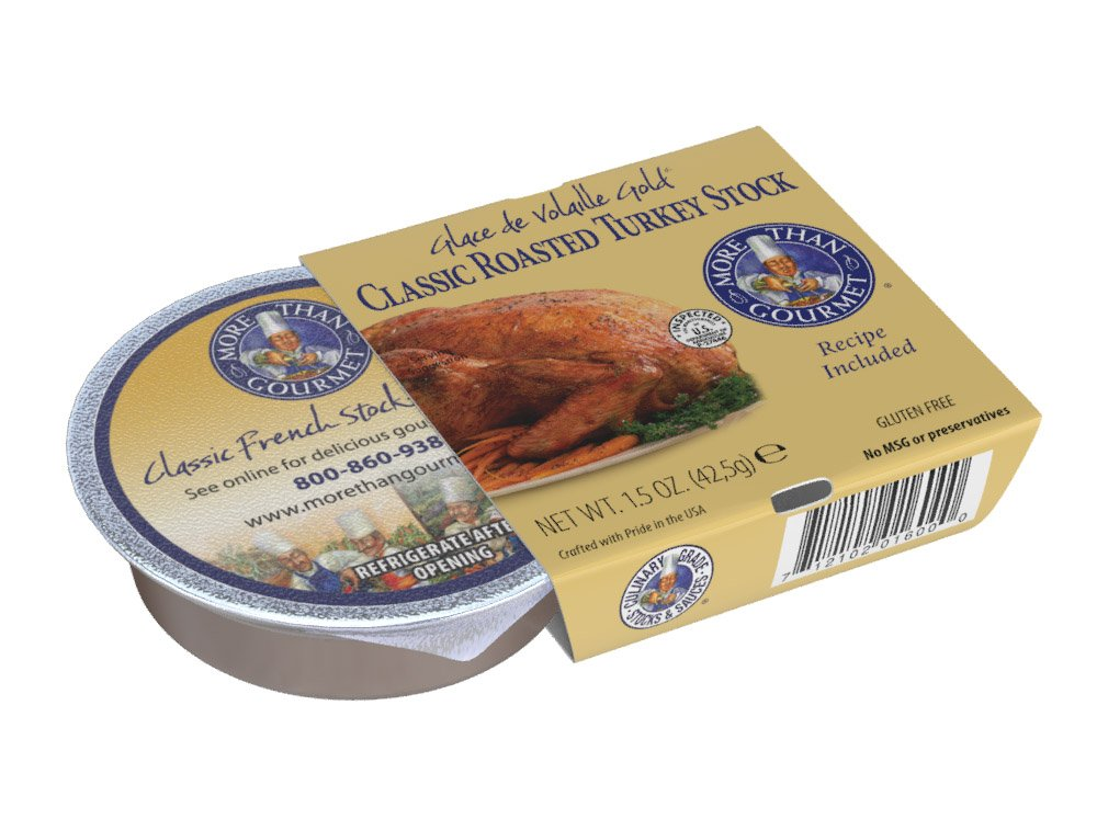 More Than Gourmet Glace De Volaille Gold, Roasted Turkey Stock, 1.5 Ounce Package