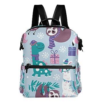 Image Unavailable. Image not available for. Color  Cute Sloth Flamingo  Alpaca Dinosaur School Backpack ... ecad44877e1a8