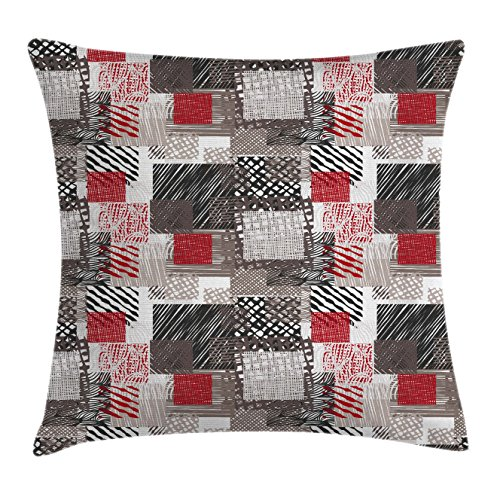Modern Throw Pillow Cushion Cover by Ambesonne, Patchwork St