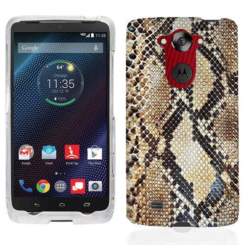 For Motorola Droid Turbo Snake Skin Case Cover
