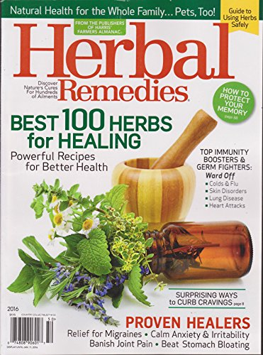 Herbal Remedies 2016 Magazine (Country Collectibles #100)