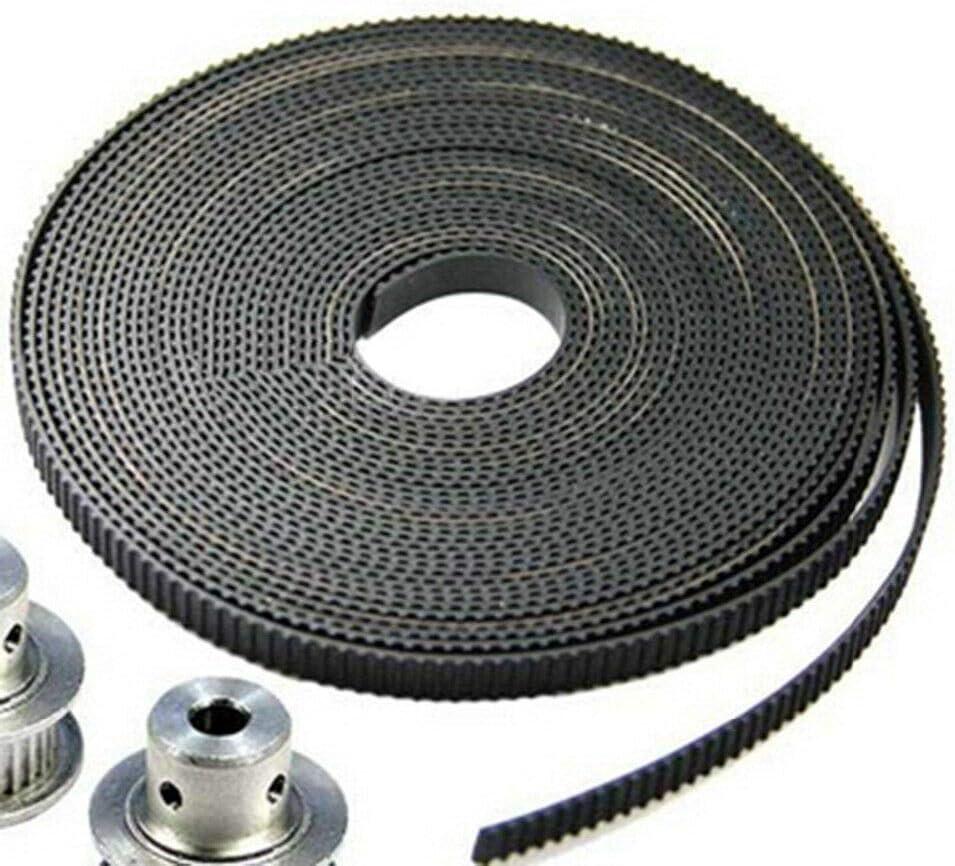 Black 6mm Wide GT2 Timing Belt for 3D Printers Timing Belt etc 2M Intelligent Plotter SENRISE 3D Printer Open Timing Belt PU Timing Belt