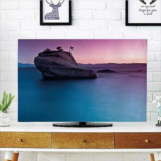 Lonsant - Funda para televisor LCD, diseño Floral, Color Rosa ...