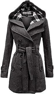 Huixin Femme Outerwear Hiver Mode Classique Double Boutonnage Longues Young  Styles Elégante Manteau… bbc07ca7f49b