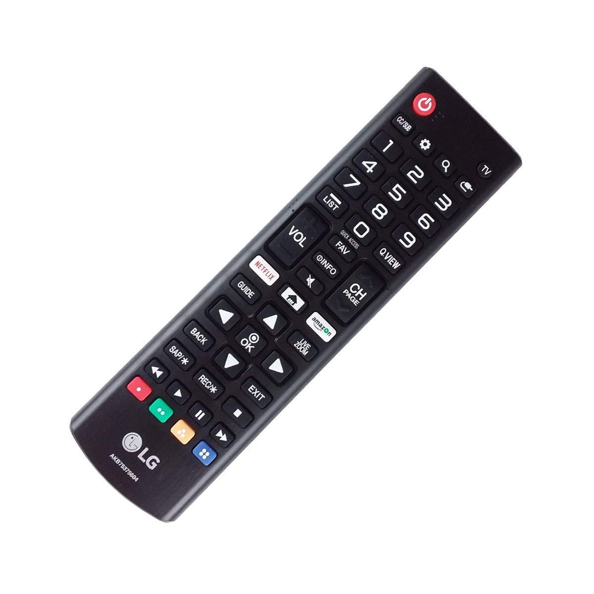 OEM AKB75375604 LG TV Remote Control for/fit 32LK540BPUA 43UK6250PUB with Netflix and Amazon Buttons (Renewed)