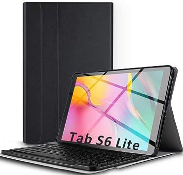 YingStar Funda con Teclado Español Ñ para Samsung Galaxy Tab S6 Lite 10.4 (P610 / P615) 2020 Carcasa Slim Funda Protectora de Cuero Teclado ...