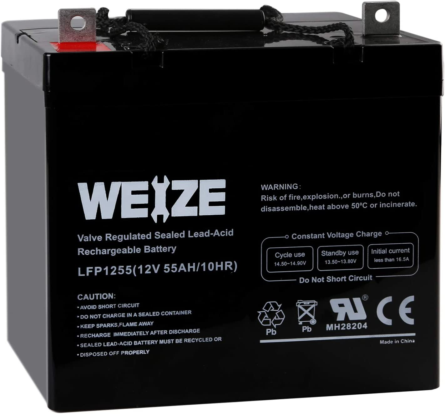 Weize 12V 55AH Deep Cycle Battery