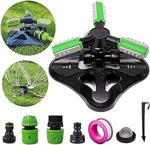 Noper Lawn Sprinkler 360 Rotating, Automatic Water Sprinkler System for Yard, Adjustable Garden Hose Sprinkler That Irrigates Large Areas
