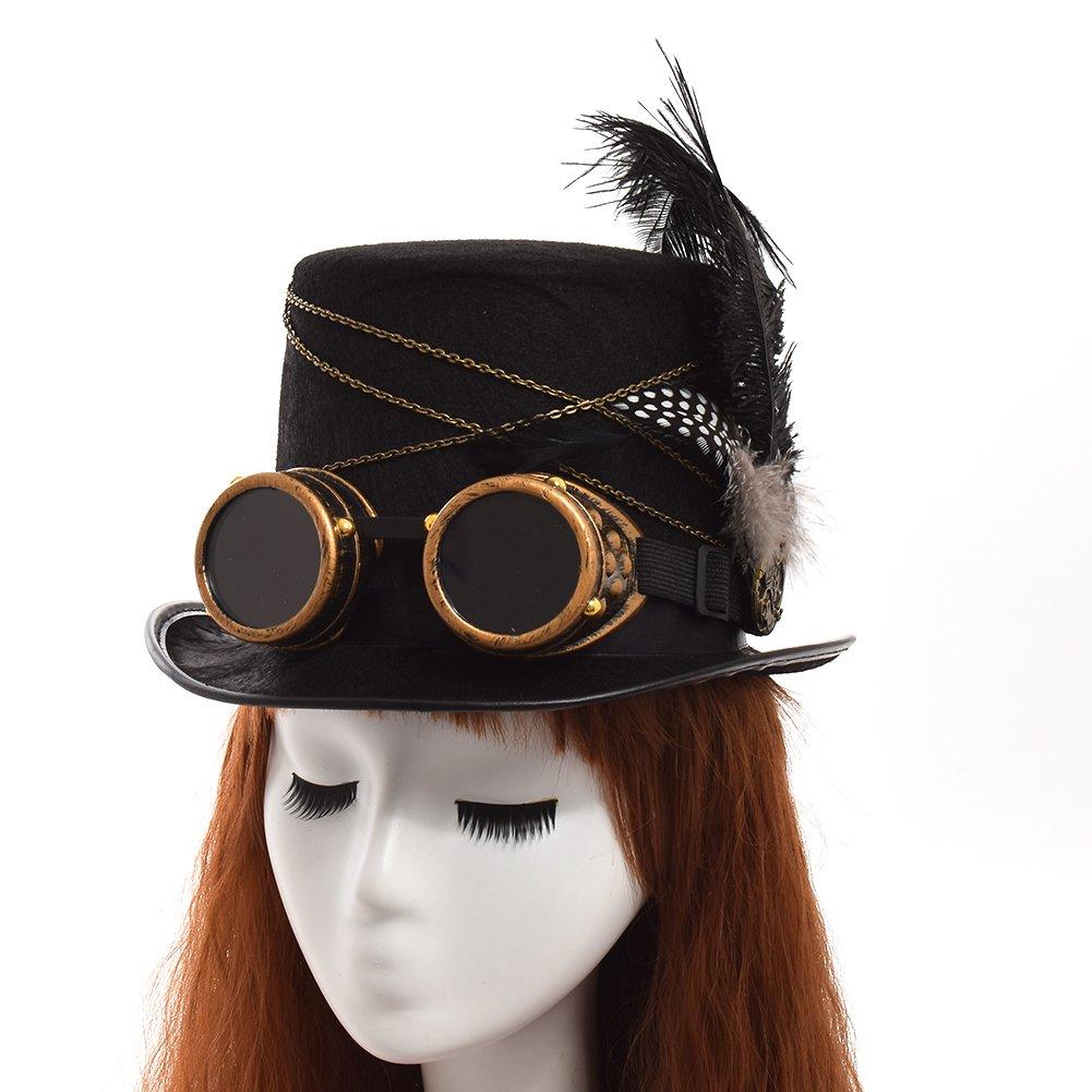 GRACEART Steampunk hacia parte superior sombreros con google  (varios  estilos ) Regalos de vacaciones 5437918be4b