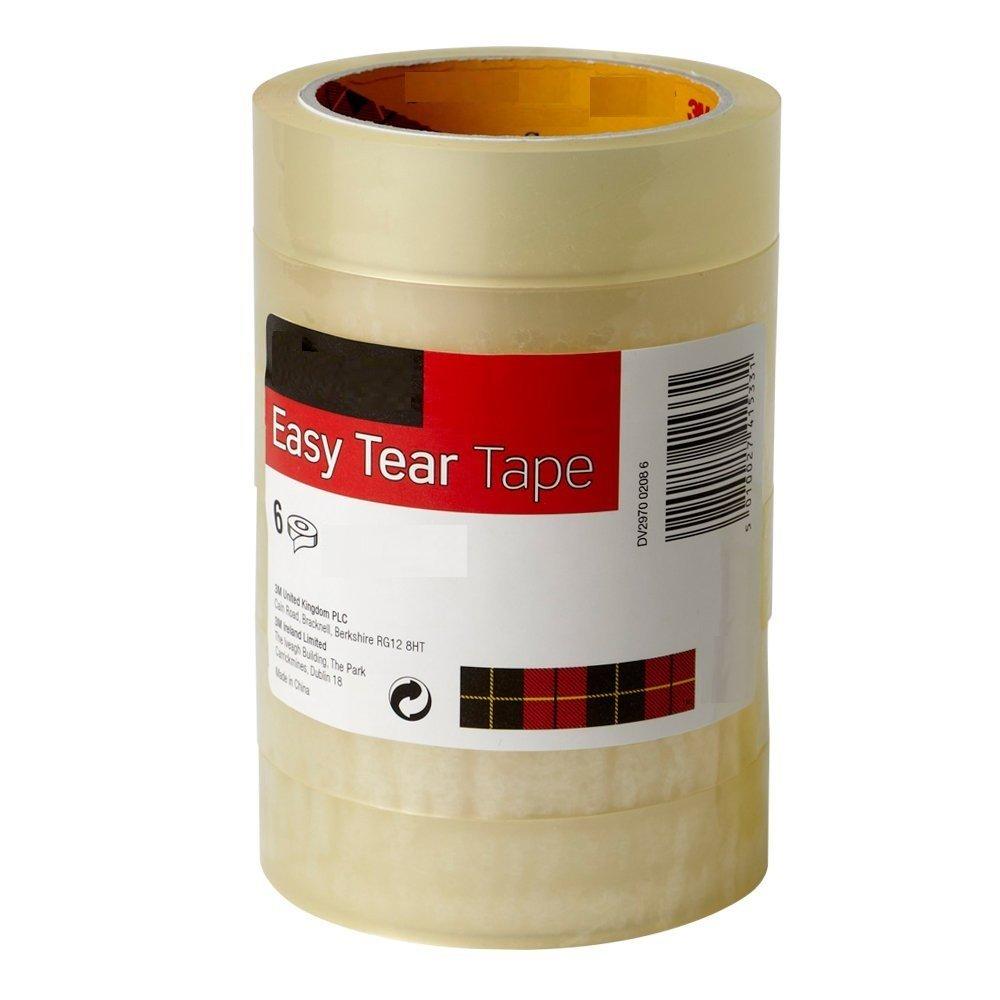 arte e artigianato Buycrafty facile da strappare trasparente confezione da 6/rotoli /imballaggio 30/mm x 100/metri/ nastro adesivo