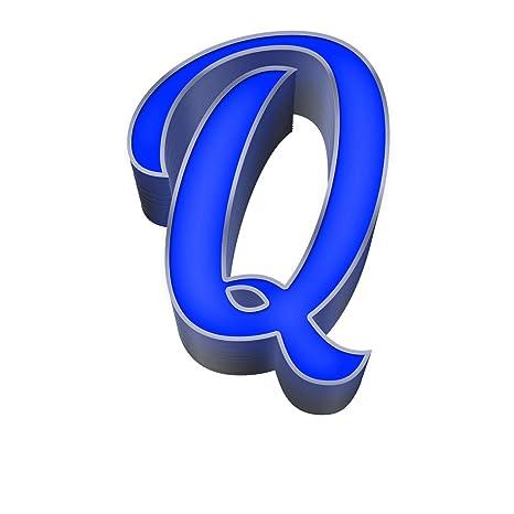 Letra luminosa LED de acero y plexiglás azul de 50 cm de ...