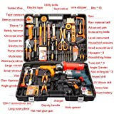 Hardware Tools Set Flashlight Home Hammer Multi-function Impact Drill Electric Mini Small Tools Screwdriver Pistol Drill