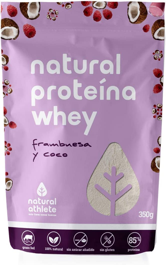 Proteína Whey Frambuesa/Coco Natural Athlete Aislado de Suero de ...