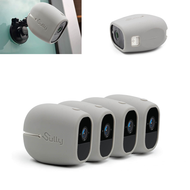 【驚きの値段】 シリコンスキン グレー) Arlo Sully Pro/Arlo Pro 2 (4個 グレー) (ワイヤレスカメラ保護ケース含む) Pro/ Netgear Arlo Pro スマートセキュリティアクセサリー(VMA4200B)専用 - ジャストフィット - by Sully Set of 4 Grey B07NJQHHZT, 黒田庄町:e235bc20 --- mfphoto.ie
