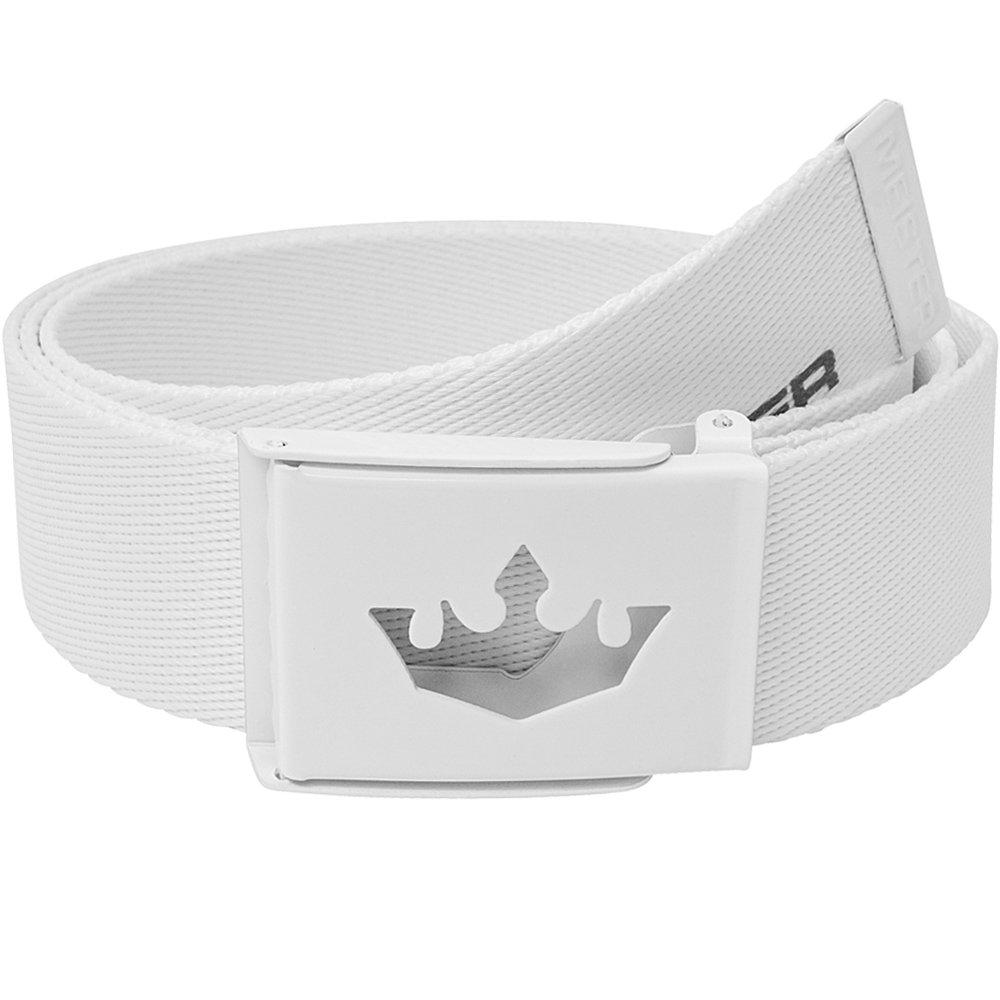 Meister Player Golf Web Belt - Adjustable & Reversible - White