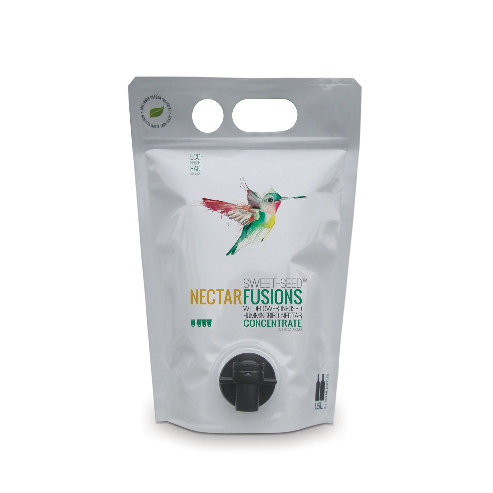 Nectar Fusions Hummingbird Food: [9-pack] All-natural & Dye Free, Wildflower Infused Hummingbird Nectar Concentrate (450 oz./Makes 1350 oz.)