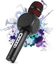 Wireless Bluetooth Karaoke Microphone, Fede 3-in-1 Portable Karaoke System with Two built-in speakers for Home KTV, Outdoor