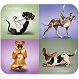 HandStands Yoga Dogs Mouse Pad