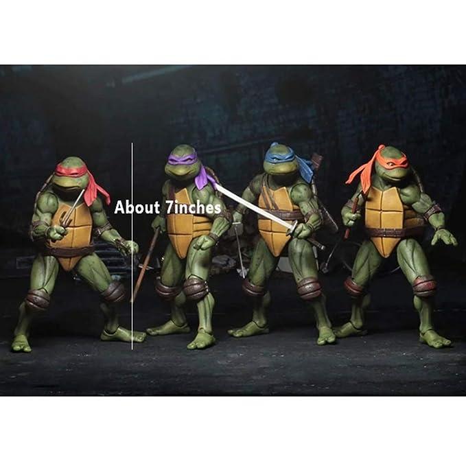Yang baby Paquete De 4 Juguetes De Tortugas Ninjas Mutantes ...