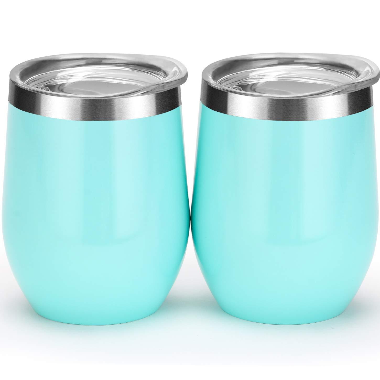 Amazon.com: Vaso de vino con doble aislamiento al vacío con ...