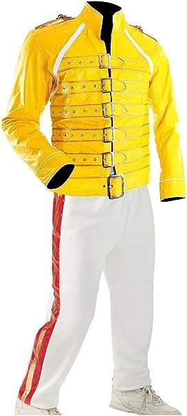 Amazon.com: NM Fashions Freddie Mercury - Chaqueta de piel ...