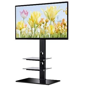 Amazon Com Rfiver Black Floor Tv Stand With Universal Swivel