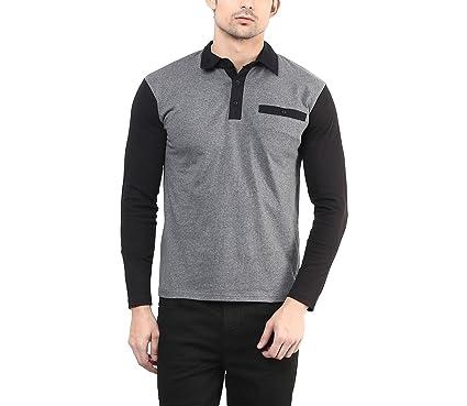 hypernation dark grey color casual t shirt for men amazon in