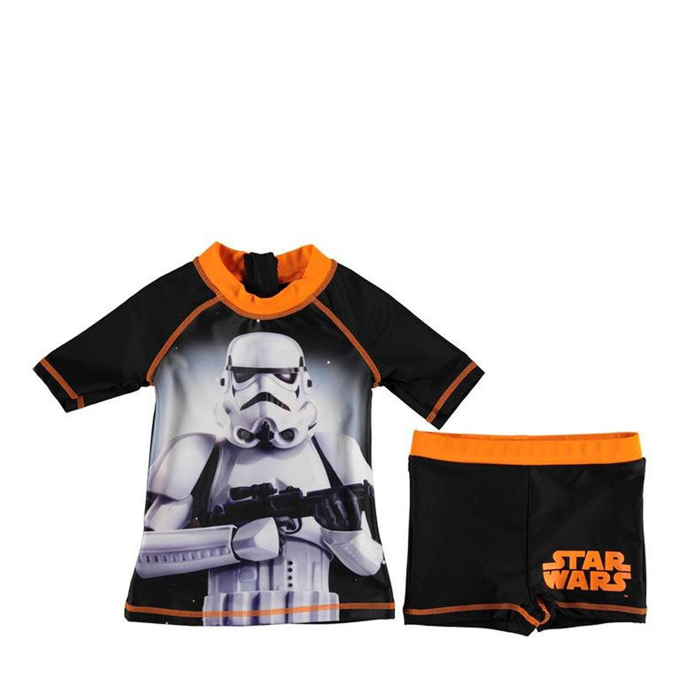 Character Star Wars 2 Piece Swim Swimming Sun Suit Set Boys Top & Shorts