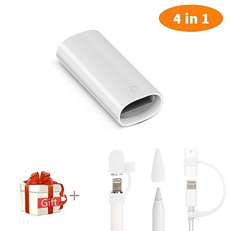 Cuauco - Adaptador de Cargador Compatible con lápiz Apple y iPad Pro Cable Adaptador de Carga Conector + Apple lápiz Capso/Niba Cuver/Cable Adaptador ...