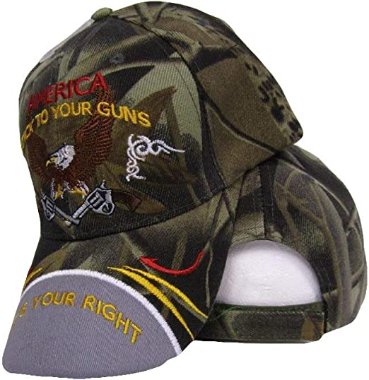 Embroidered Baseball Cap 2nd Amendment Stick to your Guns NEW Black 1 fits all