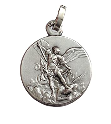 Catholic Sterling silver St. Michael gift boxed medal 16mm LphtWhDy9