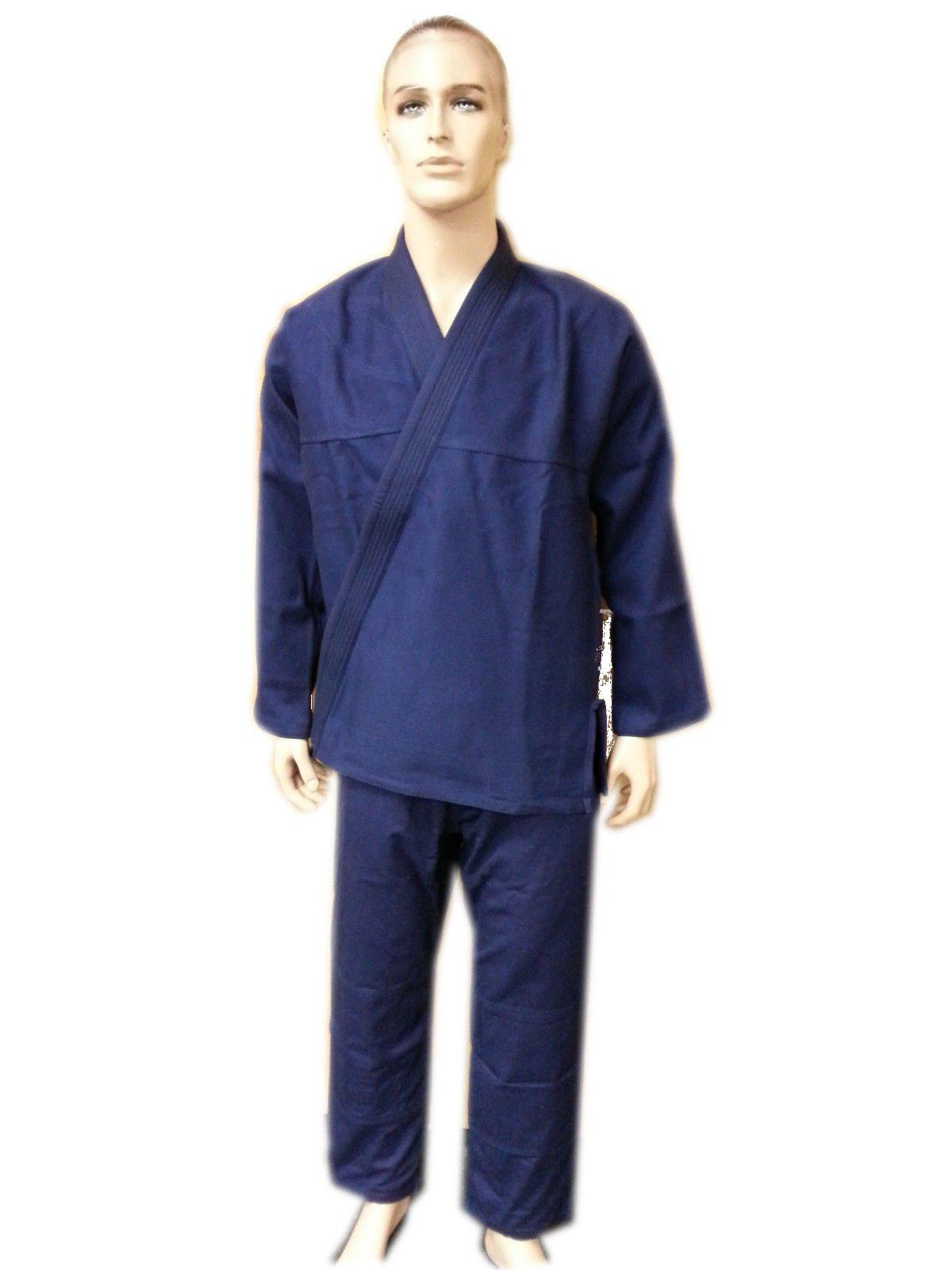Woldorf USA Brazilian jiu Jitsu Kimono Pearl Weave Gi Competition Uniform Navy Blue with Ripstop Pant A3 NO Logo by Woldorf USA