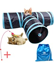Cat Toys 3 Way Cat Tunnels Pet Tubes Toys Collapsible Kitty Tube Pet Toys