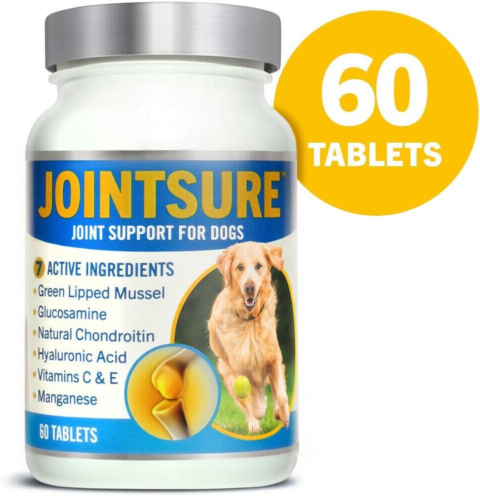 JOINTSURE condroprotector Perros  60 Comprimidos   con mejillón de Labio Verde, glucosamina y condroitina Natural.   Este antiinflamatorio para Perros.