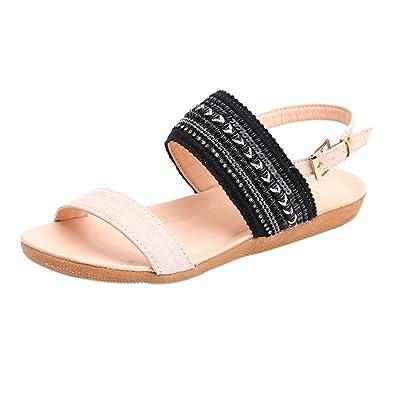 e13b711b72 JYC Women Sandals, Toe Beach Gladiator Ankle Shoes, Flip Flop Sandals,  Bohemia Slippers