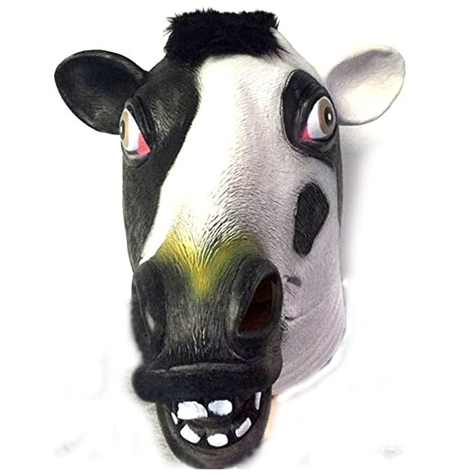 Amazon com: Jiele Latex Animal Head Mask Halloween Cosplay