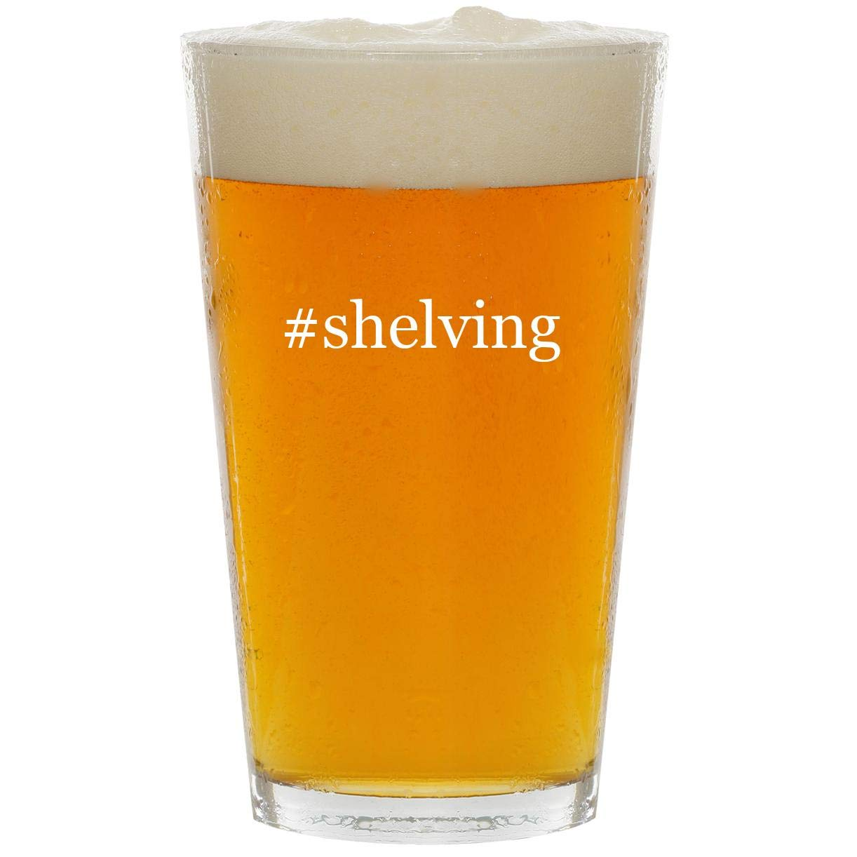 #shelving - Glass Hashtag 16oz Beer Pint