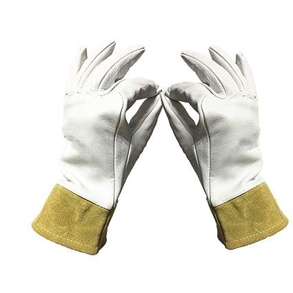 RMXMY Guantes de soldador, resistentes al desgaste, aislamiento de alta temperatura, guantes de