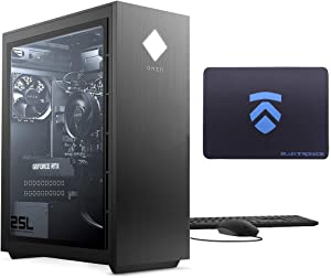 2021 Latest ELUK OMEN 25L Gaming PC (AMD Ryzen 7 3700X Processor, NVIDIA RTX 3070 Graphics Card, Windows 10 Home, Glass Window, 512GB PCIe NVMe SSD + 16GB HyperX 3200MHz DDR4 RAM) VR Ready Desktop