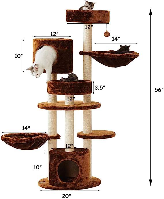 Sopapets - Rascador para Gatos con Dos cestas y casa para Gatos: Amazon.es: Productos para mascotas