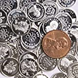 Five (5) One Gram .999 Fine Silver Rounds with