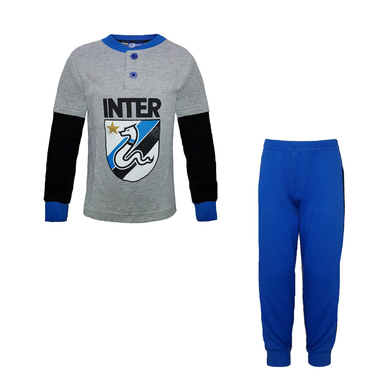 FC INTER Pigiama Bambino in Caldo Cotone Prodotto Ufficiale Art IN16060