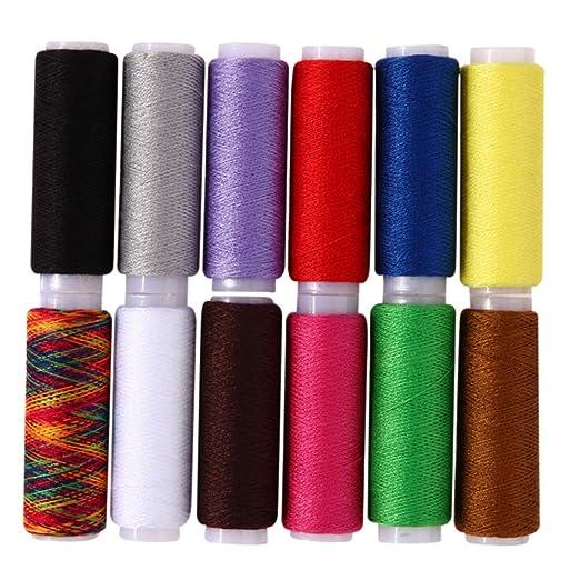 Hilo de coser 10 Rollos/Conjunto De Diferentes Colores De Coser A ...