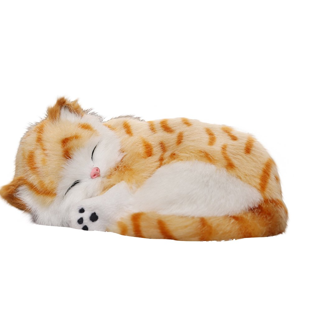 WINOMO Activated Carbon Simulation Animal Decoration Plush Toy for Car Home Office(Cat)