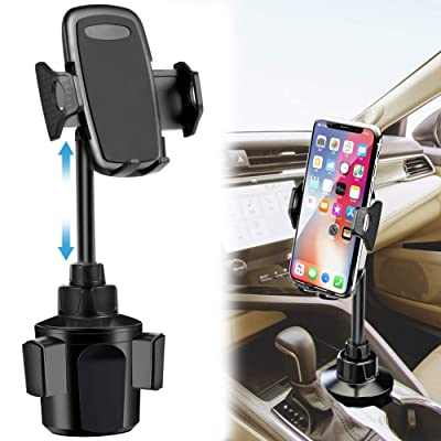Car Cup Holder Phone Mount,Phone Cup Holder for Car,Upgraded Car Phone Cradle Mount Cell Phone Cup Holder Compatible with Cell Phone iPhone Xs/XS Max/X/8/7 Plus/Galaxy