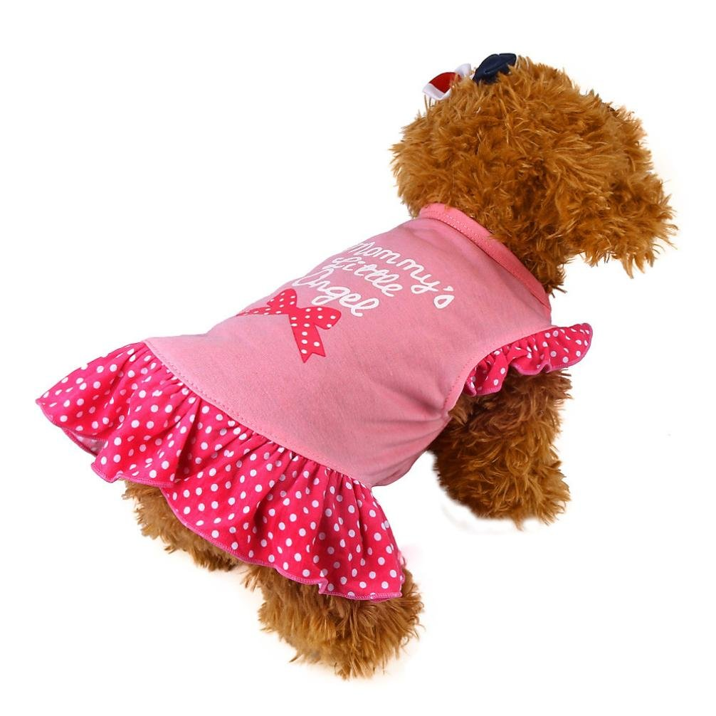 Howstar Pet T-Shirt, Dog Summer Apparel Puppy Pet Clothes for Dogs Cute Soft Vest (M, ❤️B) by Howstar (Image #2)